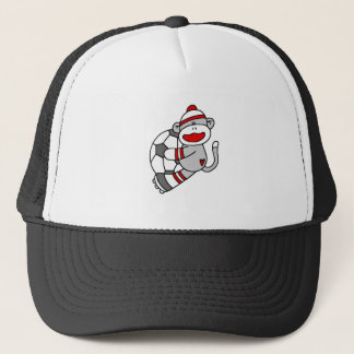 Sock Monkey Soccer Trucker Hat