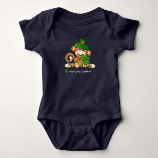 Sock Monkey St.Patrick's Day Baby Bodysuit
