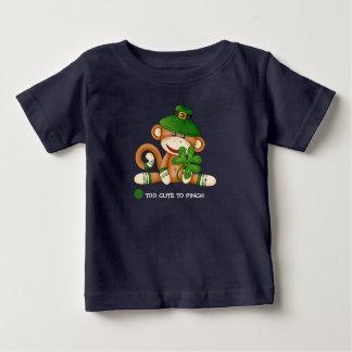 Sock Monkey St.Patrick's Day Baby T-Shirts
