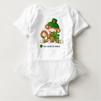 Sock Monkey St.Patrick's Day Baby Tutu Bodysuits