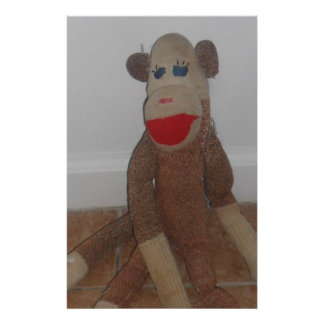 Sock Monkey Stationery Paper