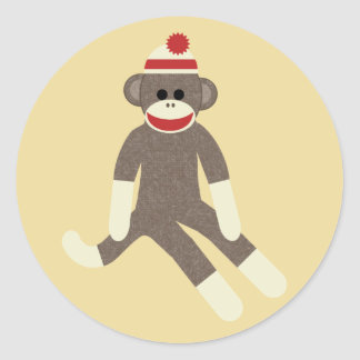 sock monkey stickers