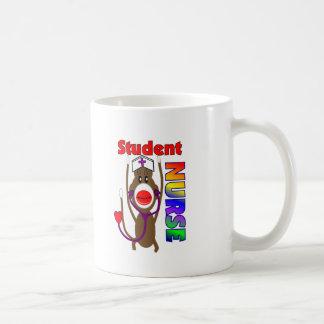 Sock Monkey Student Nurse Classic White Coffee Mug