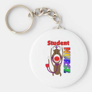 Sock Monkey Student Nurse Keychains