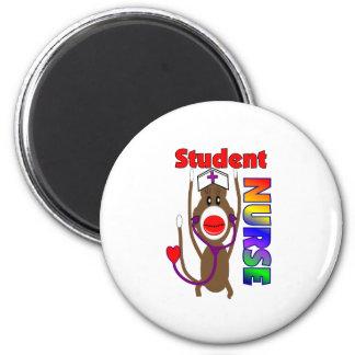 Sock Monkey Student Nurse Magnet