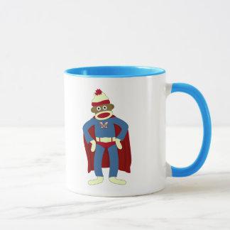 Sock Monkey Superhero Mug