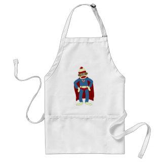 Sock Monkey Superhero Standard Apron