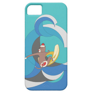 Sock Monkey - Surfing Bananas iPhone 5 Case