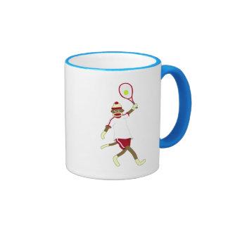Sock Monkey Tennis Mugs