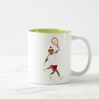 Sock Monkey Tennis Coffee Mug