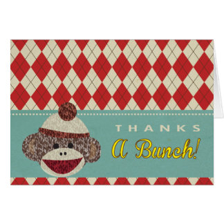 Sock Monkey Thank you Cards
