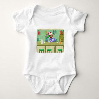 Sock Monkey Tiki Bar Baby Bodysuit