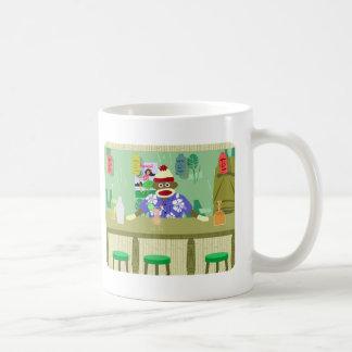 Sock Monkey Tiki Bar Coffee Mug