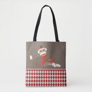 Sock Monkey Tote Bag