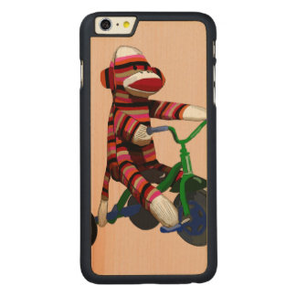Sock Monkey Tricycle Carved® Maple iPhone 6 Plus Case