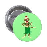 Sock Monkey Ukulele Button