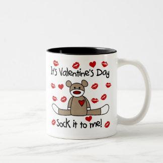 Sock Monkey Valentines Day Two-Tone Mug