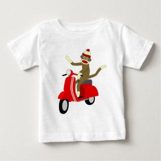 Sock Monkey Vespa Scooter Baby T-Shirt