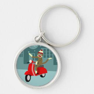 Sock Monkey Vespa Scooter Key Chains