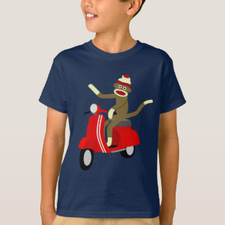 Sock Monkey Vespa Scooter T-Shirt