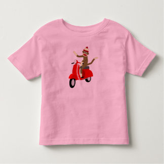 Sock Monkey Vespa Scooter Toddler T-shirt