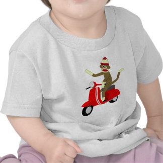 Sock Monkey Vespa Scooter T Shirts