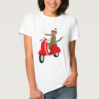 Sock Monkey Vespa Scooter Tshirts