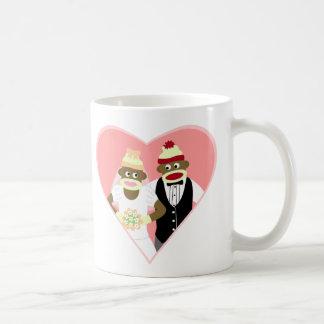 Sock Monkey Wedding Basic White Mug