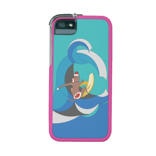 Sock Monkey went Surfing Bananas iPhone 5 Covers