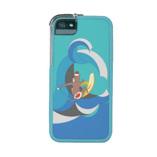 Sock Monkey went Surfing Bananas iPhone 5/5S Covers