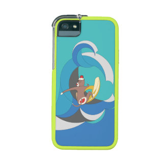 Sock Monkey went Surfing Bananas iPhone 5/5S Case