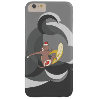 Sock Monkey went Surfing Bananas on Black Waves Barely There iPhone 6 Plus Case