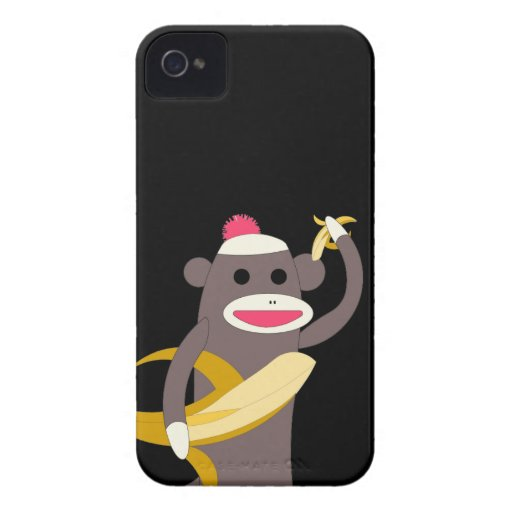 Sock Monkey with Banana Swords Case-Mate Blackberry Case