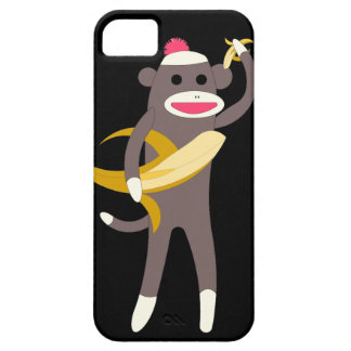 Sock Monkey with Banana Swords iPhone 5 Case