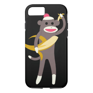 Sock Monkey with Banana Swords iPhone 7 Case