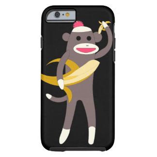 Sock Monkey with Banana Swords Tough iPhone 6 Case