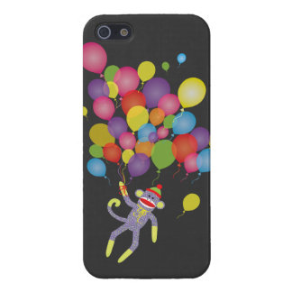 Sock Monkey with colorful balloons iPhone 5 Cover