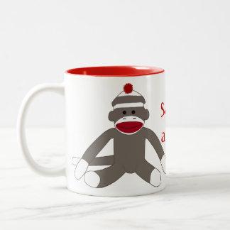 Sock Monkeying Around Two-Tone Mug