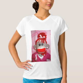 Sock Monkeys for the Cure Ladies Performance Micro T-Shirt