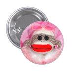Sock Monkeys for the Cure Lorraine  Pin