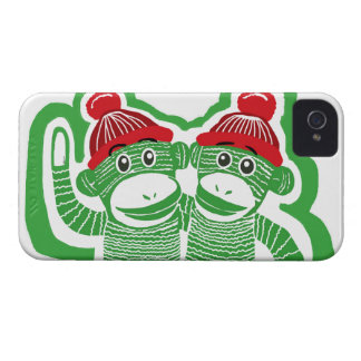 Sock Monkeys Friends iPhone 4 Case