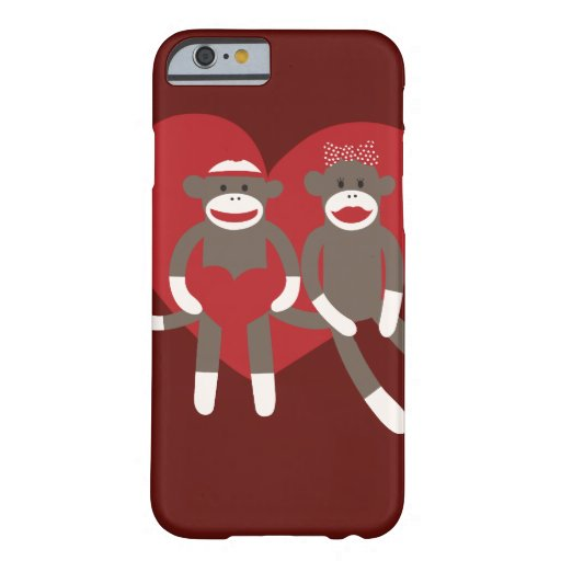 Sock Monkeys in Love Hearts Valentine's Day Gifts iPhone 6 Case