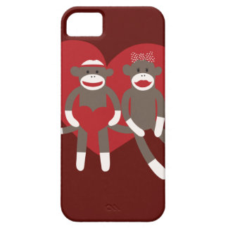 Sock Monkeys in Love Hearts Valentine's Day Gifts Case For The iPhone 5