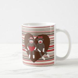 Sock Monkeys in Love Valentine's Day Heart Gifts Coffee Mug