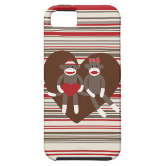 Sock Monkeys in Love Valentine's Day Heart Gifts iPhone 5 Covers