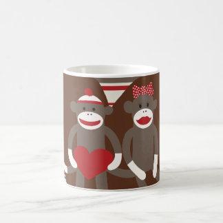 Sock Monkeys in Love Valentine's Day Heart Gifts Mug