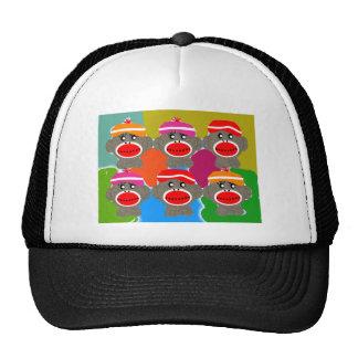 Sock Monkeys Pop Art--Art Gifts Mesh Hat