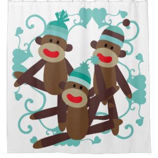 Sock Monkeys With Blue Hearts
