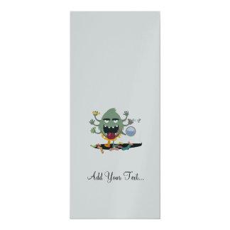 "Sock Monster 4"" X 9.25"" Invitation Card"