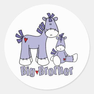 Sock Ponies Big Brother Round Sticker